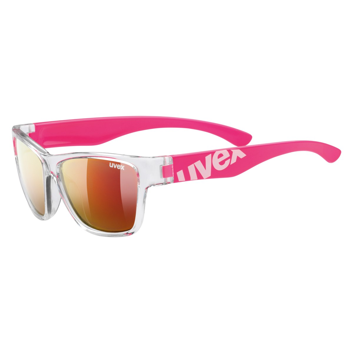 Uvex sportstyle 508 - clear pink/mirror red Kinderbrille