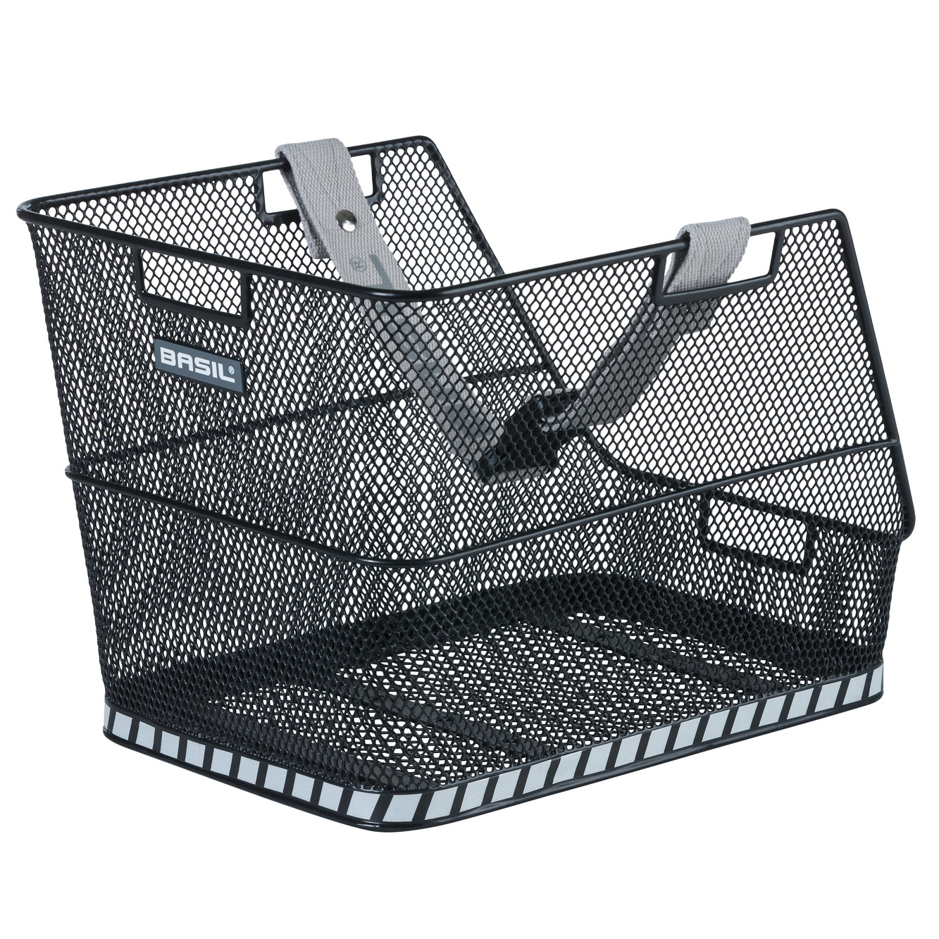 Basil Class Rear School Bag Basket - black