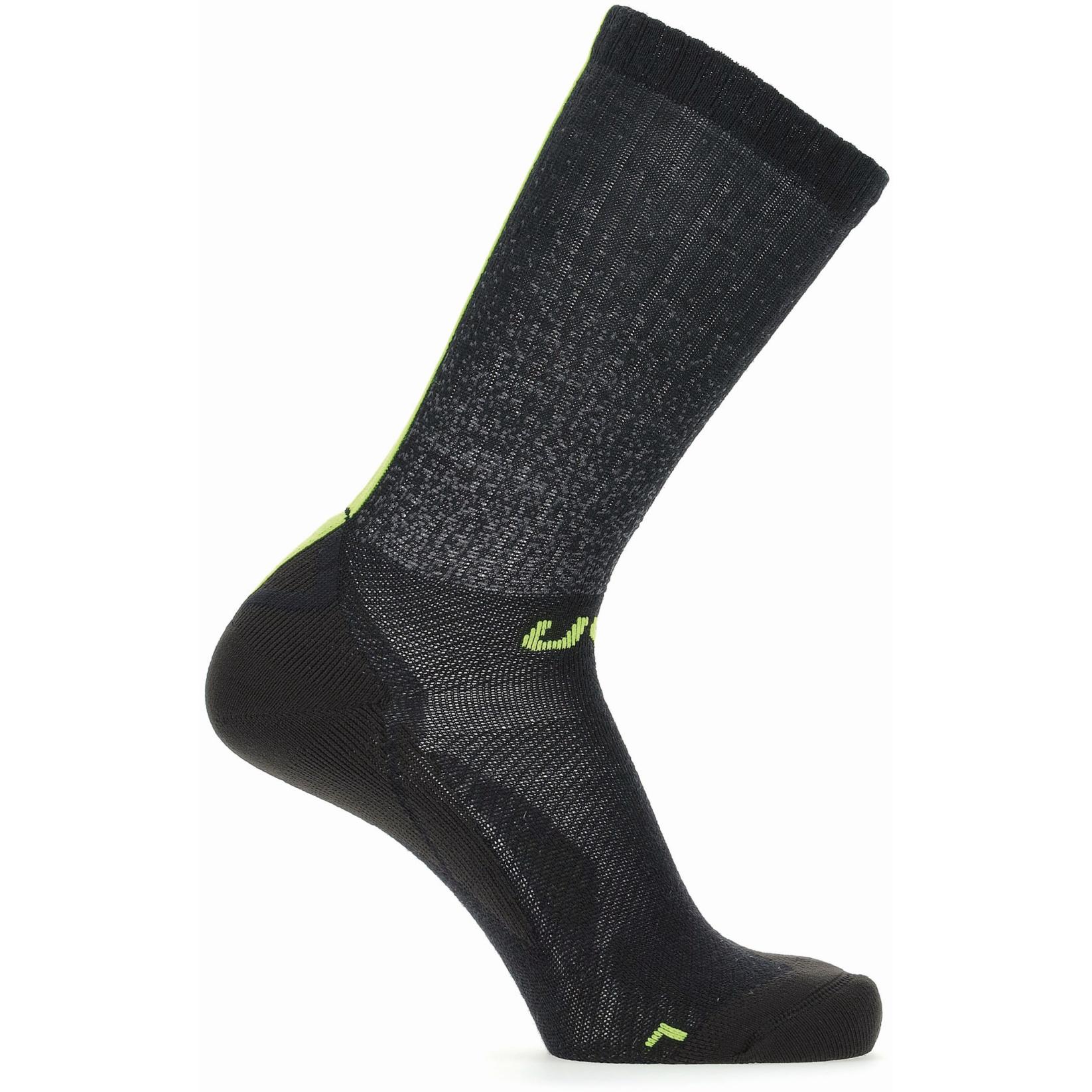 Bild von UYN Cycling Aero Winter Socken - Black/Lime