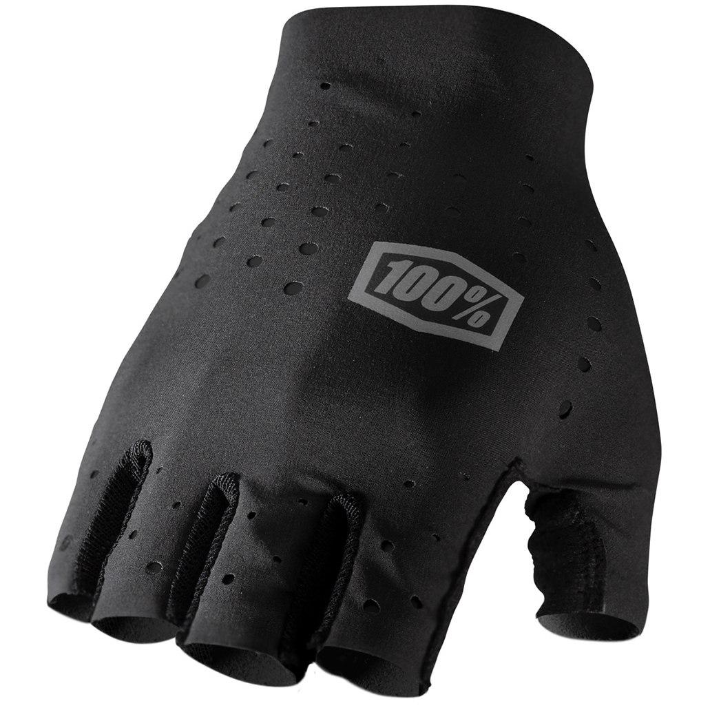 100% Sling Short Finger Gloves - Black