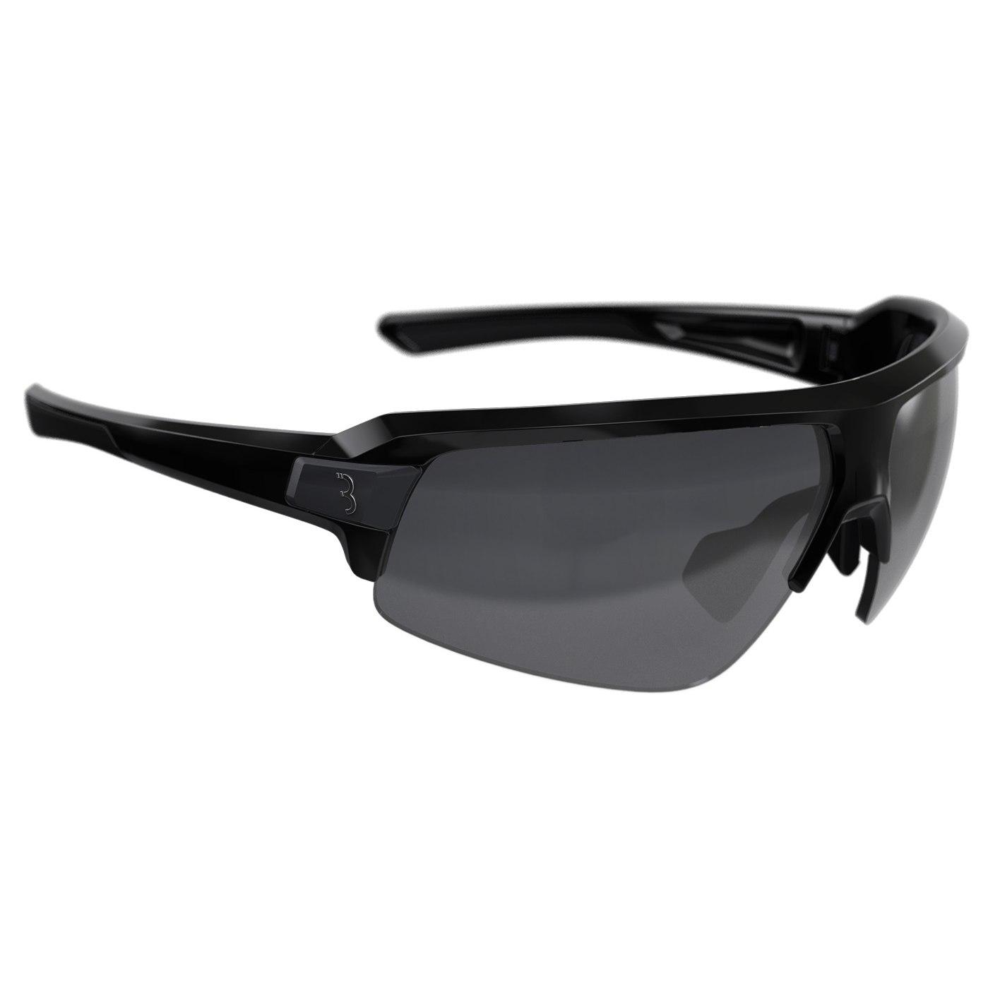 BBB CyclingImpulse BSG-62 Glossy Black   Smoke MLC + Yellow + Clear Glasses