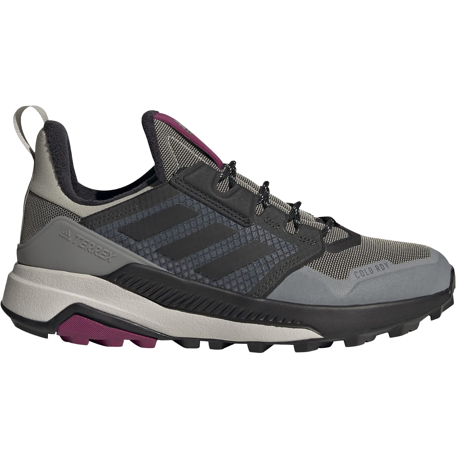 adidas Frauen TERREX Trailmaker COLD.RDY Wanderschuhe - metal grey/core black/power berry FV6918