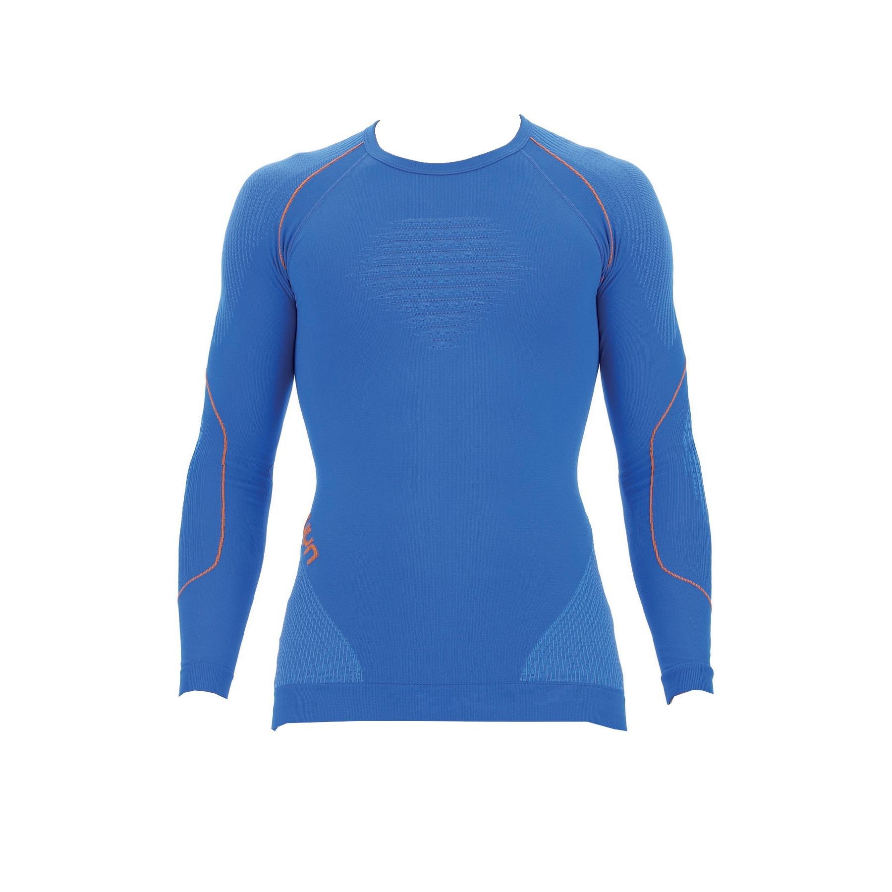 UYN Evolutyon Longsleeve Shirt - Lapis Blue/Blue/Orange Shiny
