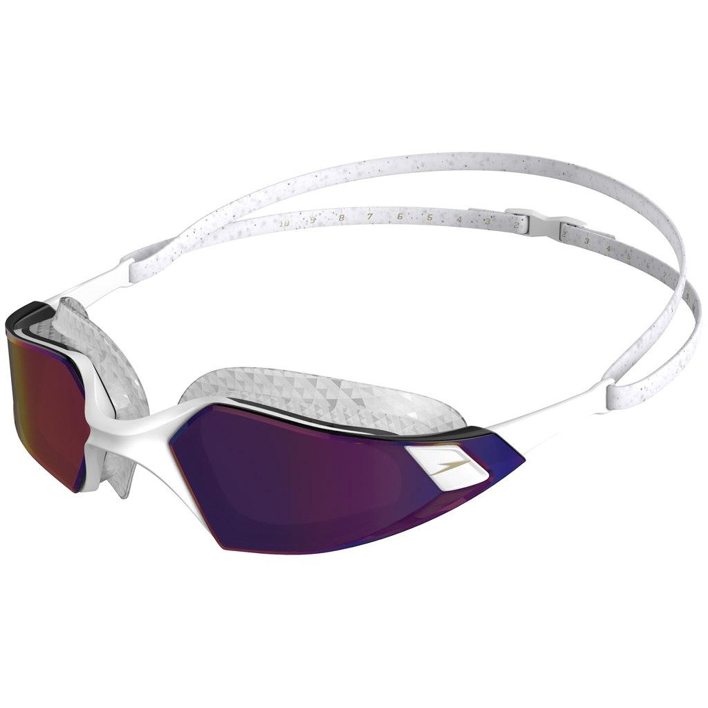 Speedo Aquapulse Pro Mirror White/Clear/Purple Gold Swimming Goggle
