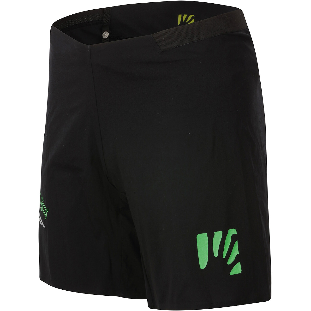 Karpos Lavaredo Shorts Überhose - black/green fluo