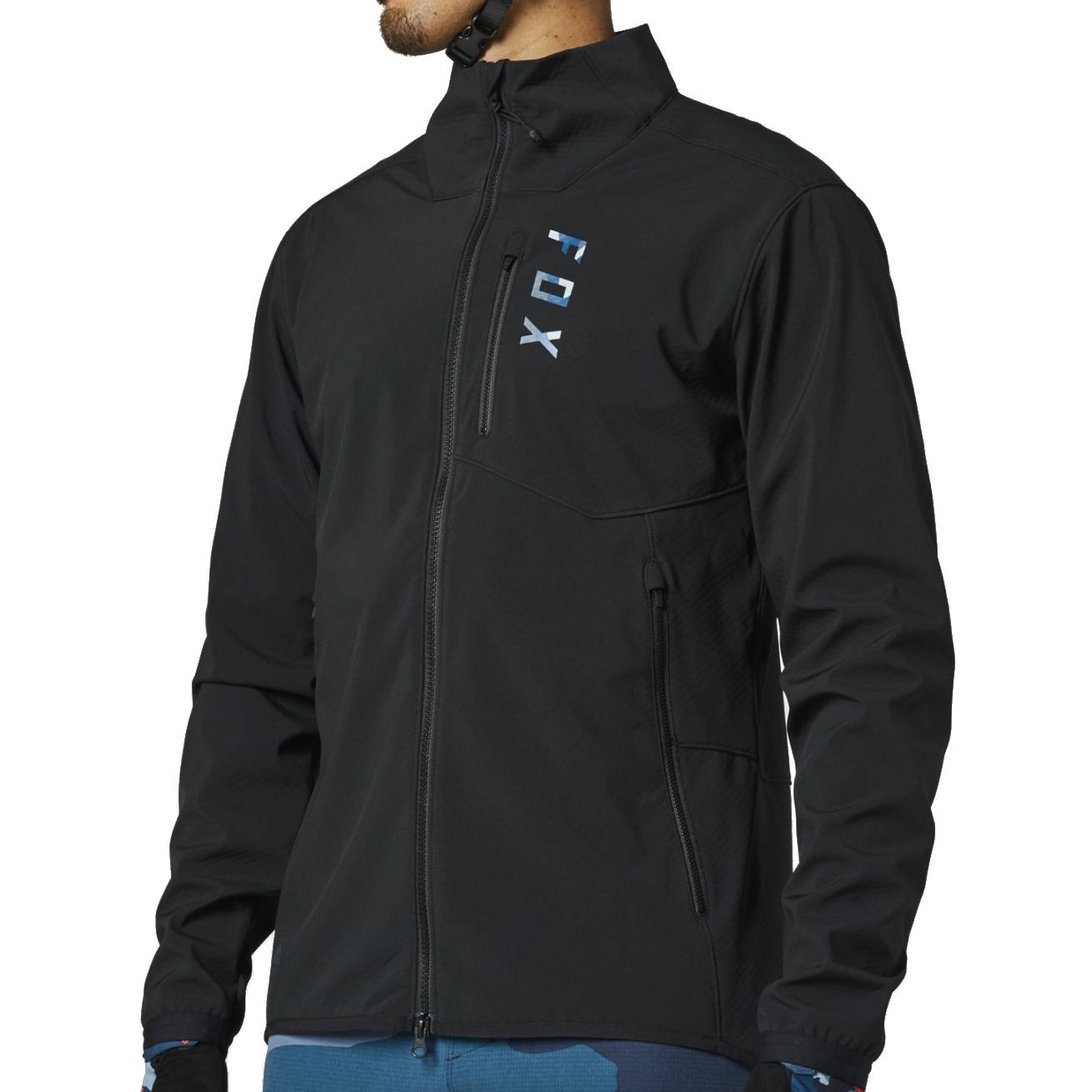 FOX Ranger Fire MTB Radjacke - black/blue
