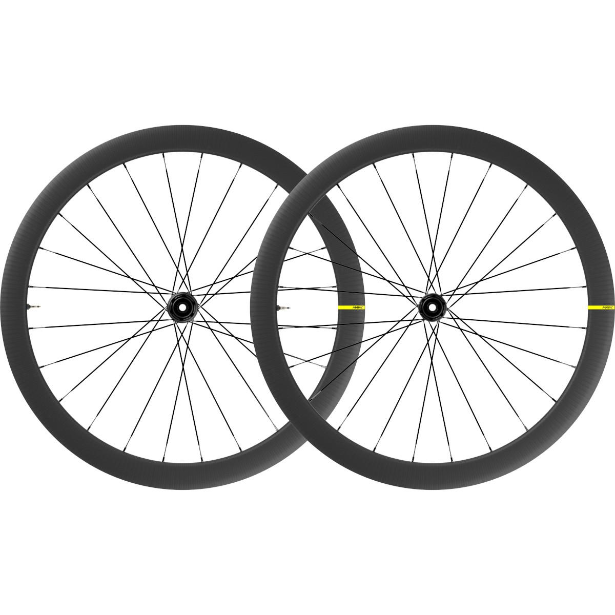 Mavic Cosmic SL 45 Disc Carbon UST Laufradsatz - Centerlock - VR: 12x100mm/QR | HR: 12x142mm/QR - Shimano HG