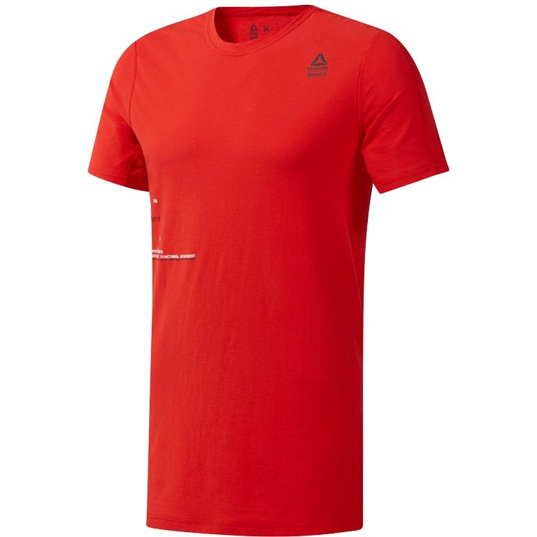 Reebok Männer CrossFit® Mesh Move T-Shirt - canton red DU5059