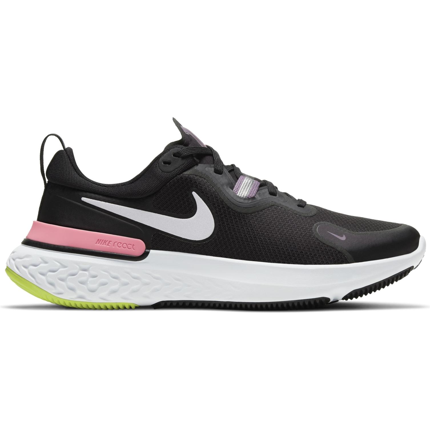 Nike React Miler Zapatillas de correr para mujer - black/metallic silver-violet dust CW1778-012