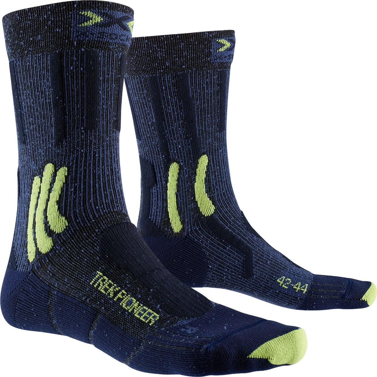 X-Socks Trek Pioneer Socken - midnight blue melange/blue/lime