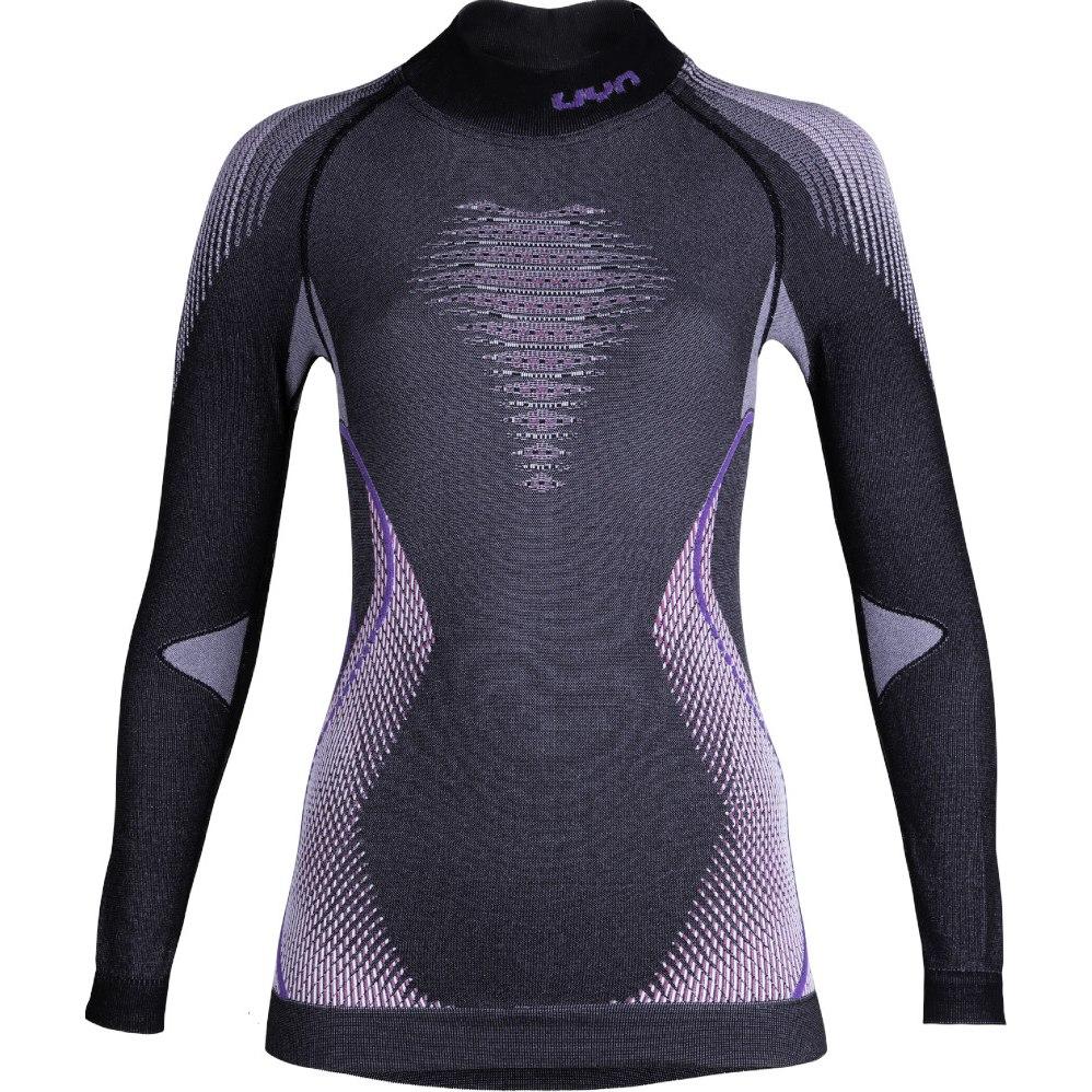 UYN Lady Evolutyon Shirt Longsleeve Melange Damen Langarm-Unterhemd - Anthracite Melange/Raspberry/Purple