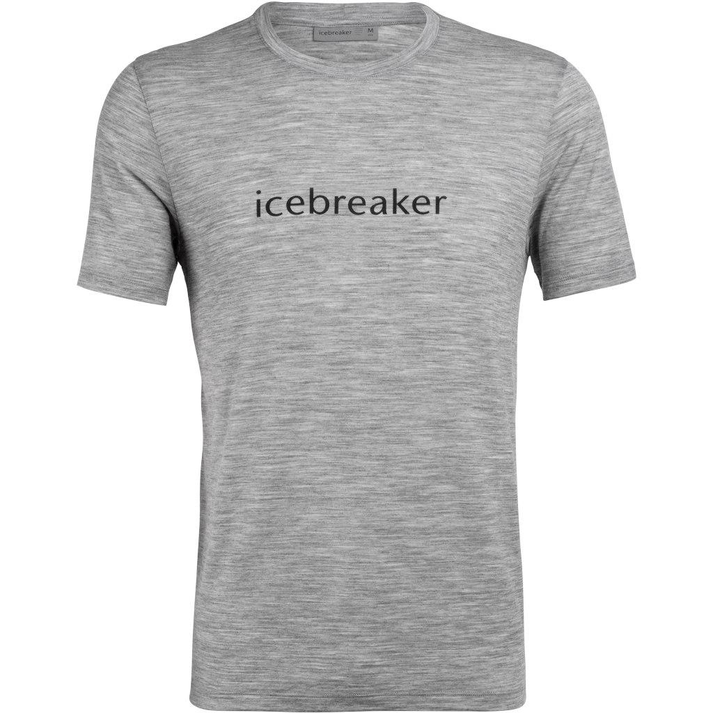 Produktbild von Icebreaker Tech Lite Crewe Icebreaker Wordmark T-Shirt - Metro HTHR