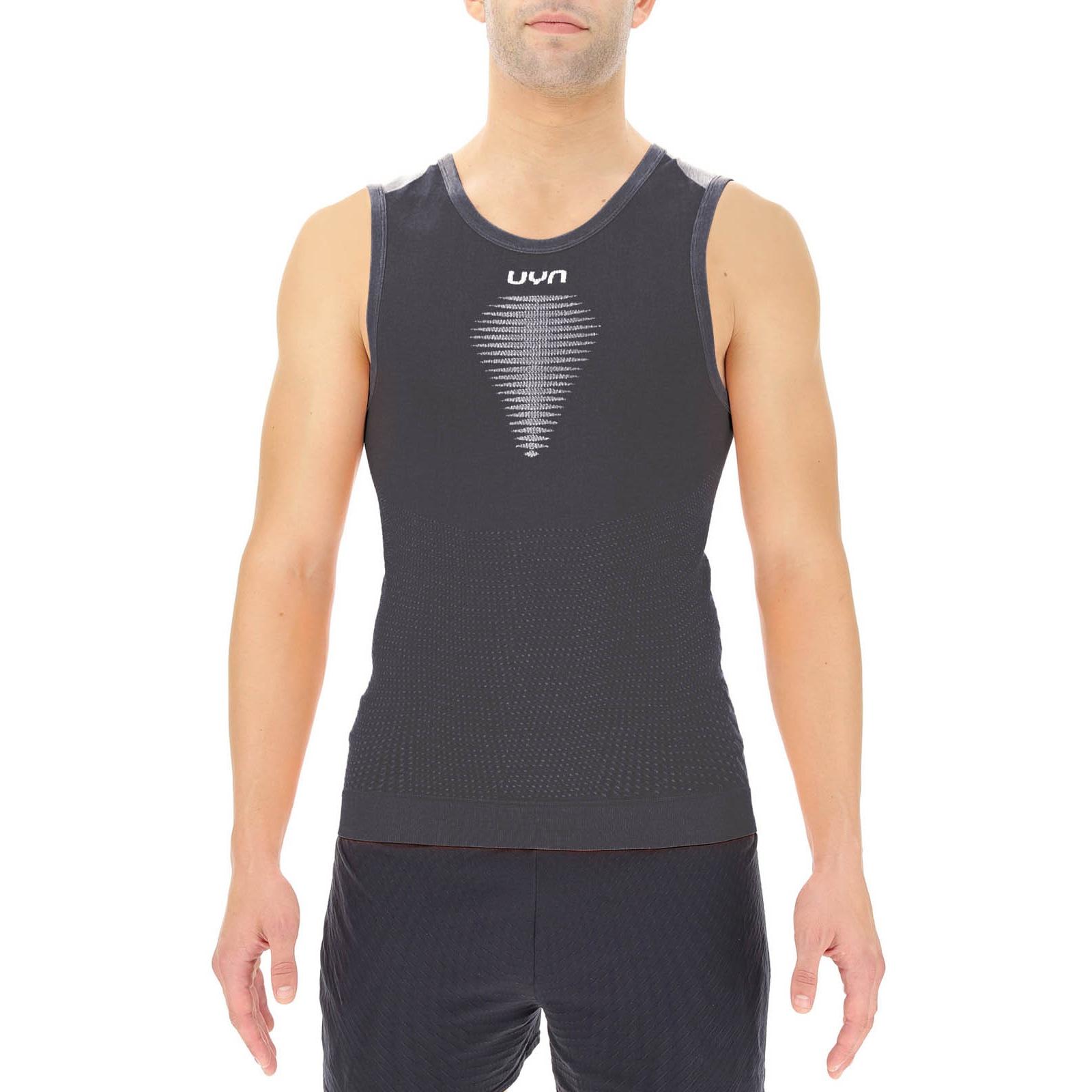 UYN Marathon Running Man Sleeveless - Blackboard/White