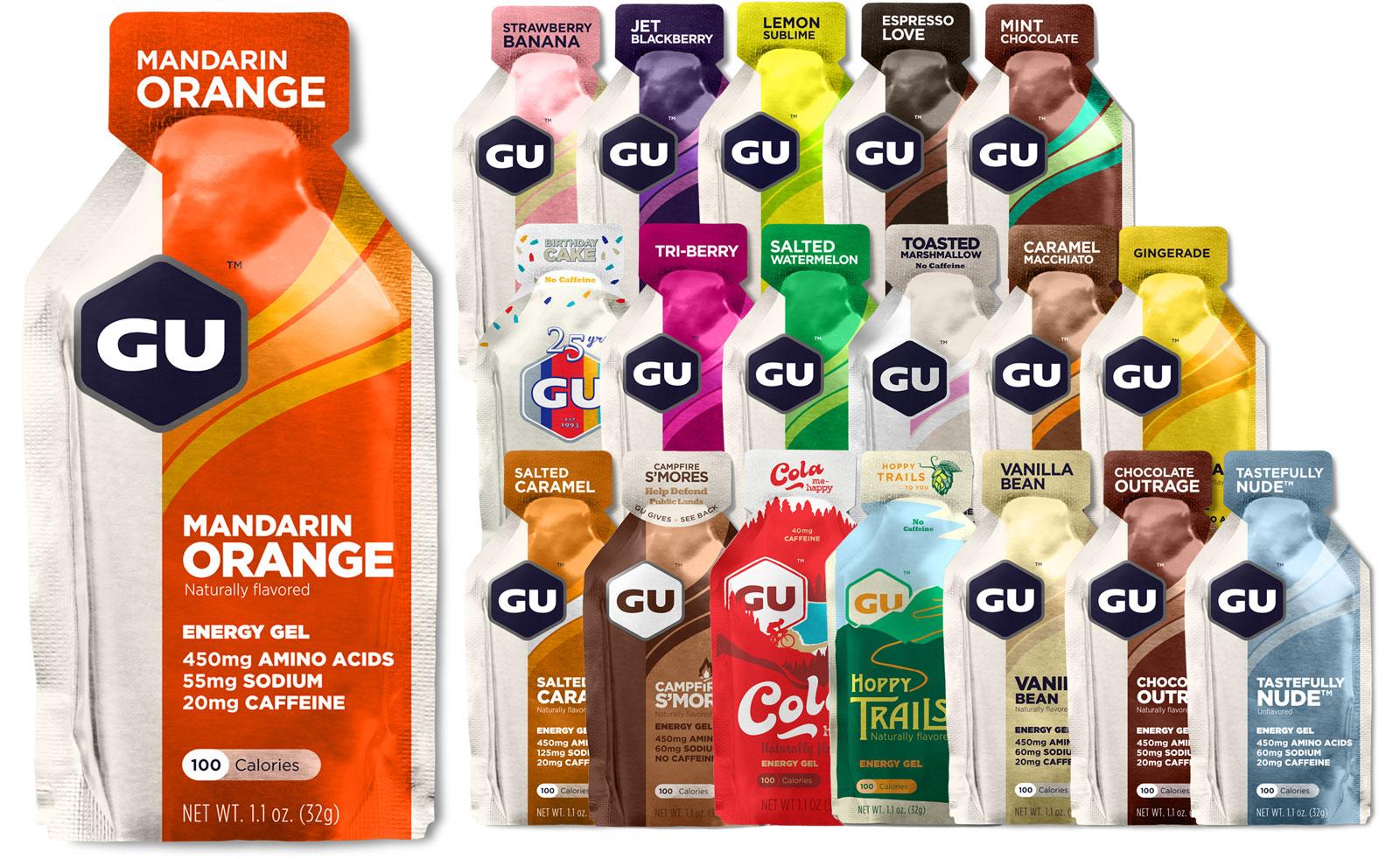 GU Energy Gel with Carbohydrates - 6x32g