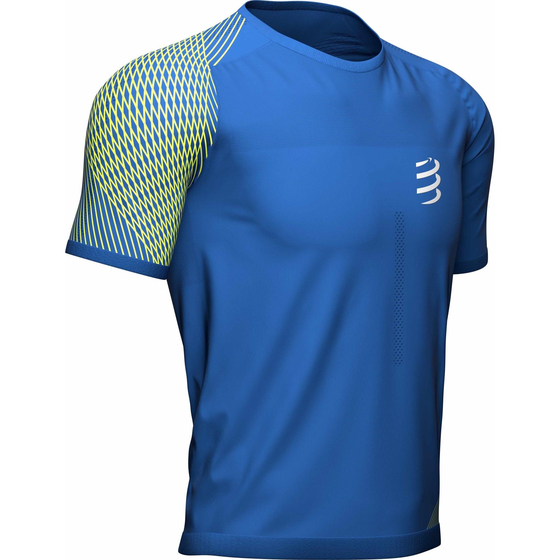 Foto de Compressport Performance Camiseta de running - blue lolite