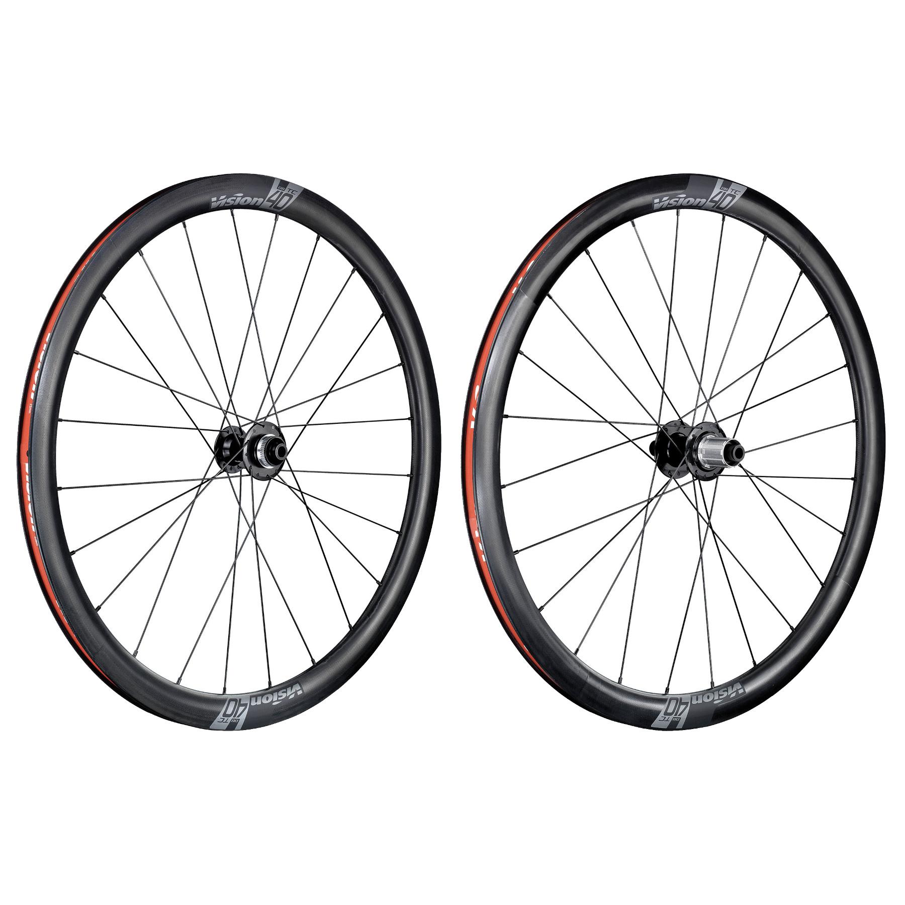 Vision TC 40 Disc Carbon Laufradsatz - TLR - Centerlock - 12x100mm | 12x142mm - Shimano HG