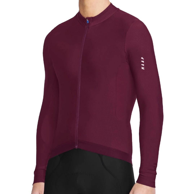MAAP Force Maillot LS - dark burgundy
