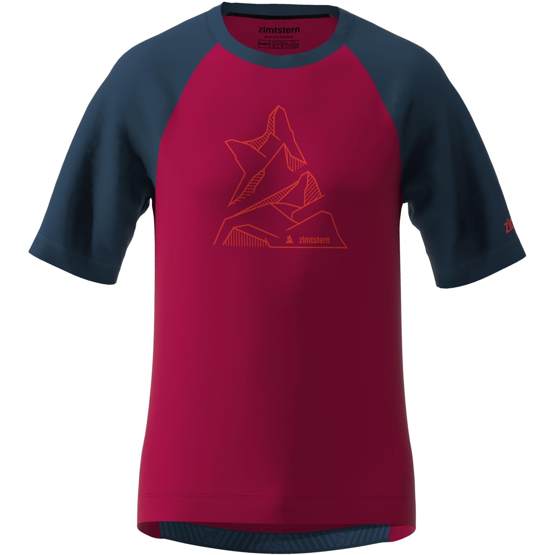 Zimtstern PureFlowz Kurzarm-Shirt - jester red/french navy