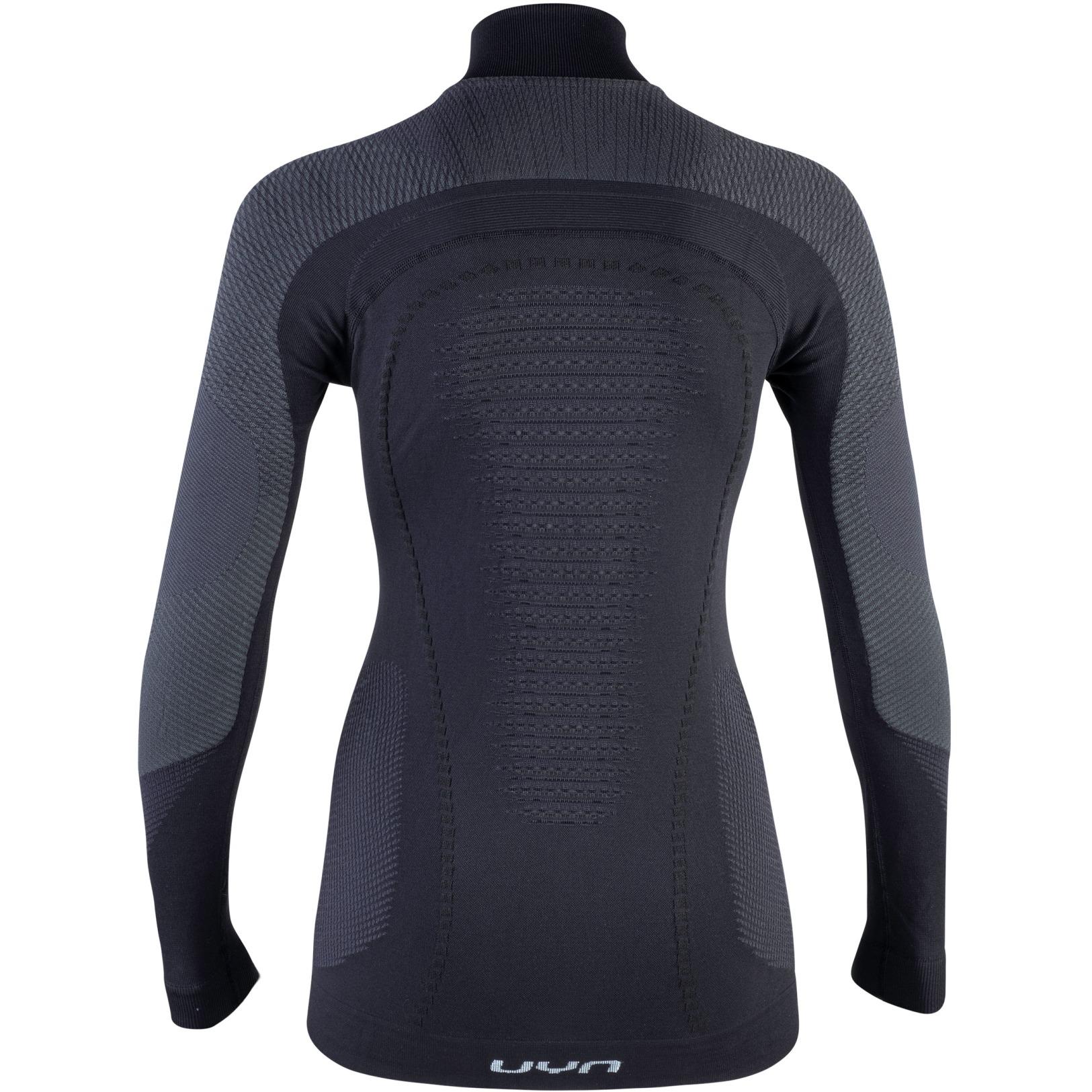 Image of UYN Ambityon Underwear Turtle Neck Shirt Women - Blackboard/Anthracite/White