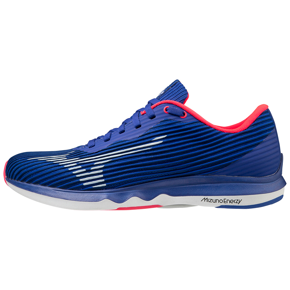 Mizuno Wave Shadow 4 Women's Running Shoes - Reflex Blue C/White/Diva Pink