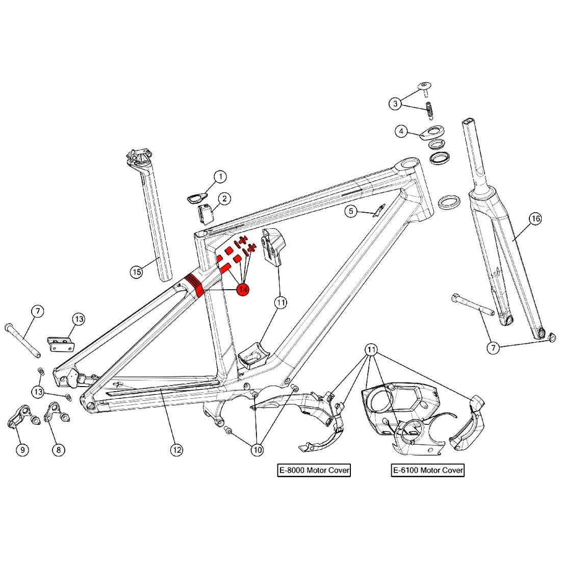 BMC Suspension Kit for Alpenchallenge AMP (MY 2019) - 301671