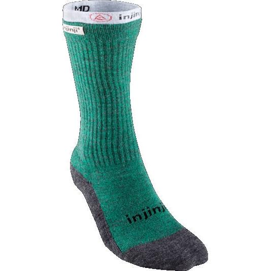 Injinji Men's Liner + Hiker Crew Coolmax® NuWool Socken - forest/gray