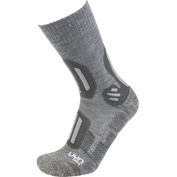 UYN Trekking Cool Merino Socken Damen - Light Grey Melange/Pearl Grey