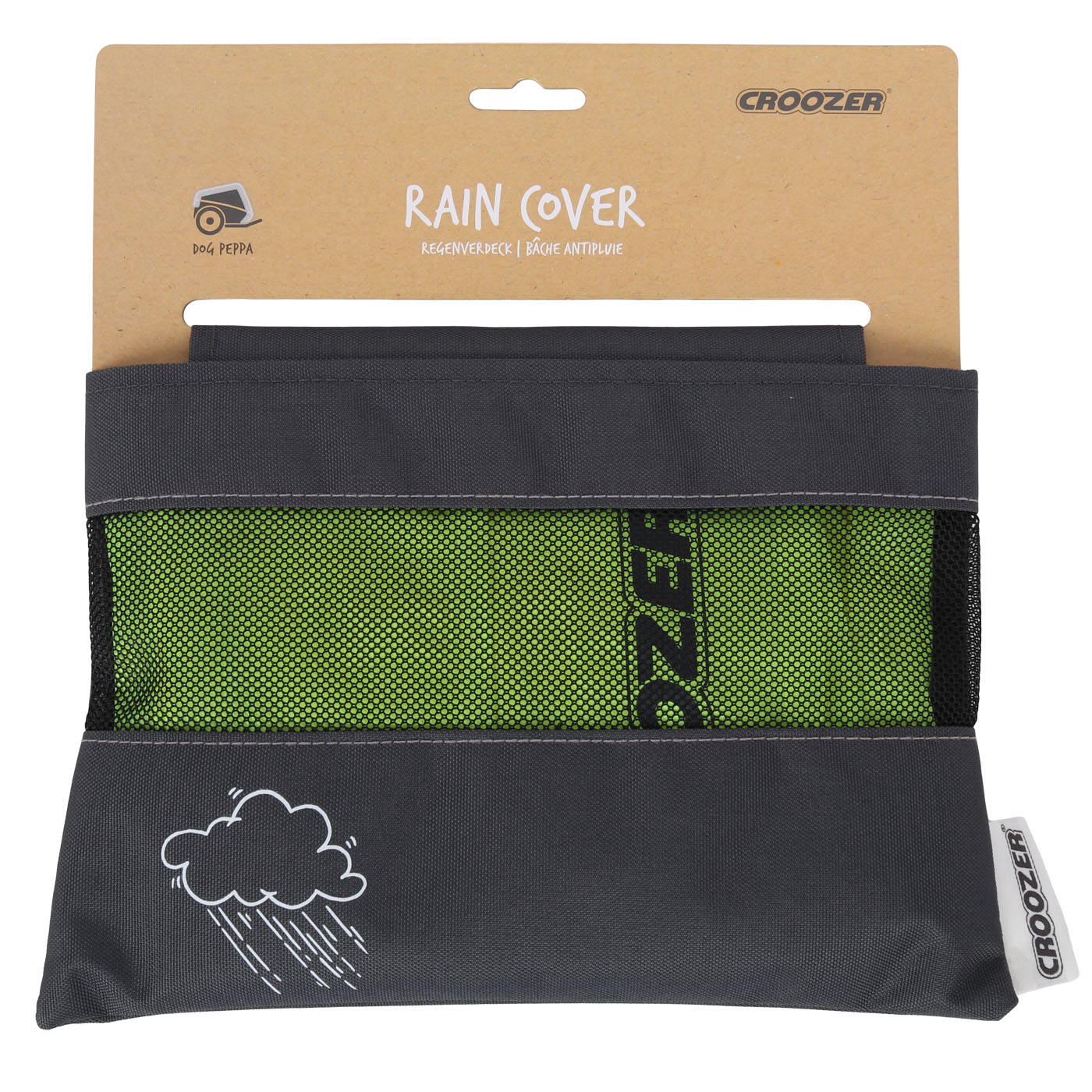 Picture of Croozer Rain Cover for Bike Trailer Dog Peppa / Dog L - lightning yellow