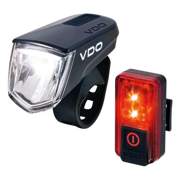 Bild von VDO ECO Light M60 + RED Plus LED - Fahrradbeleuchtungsset