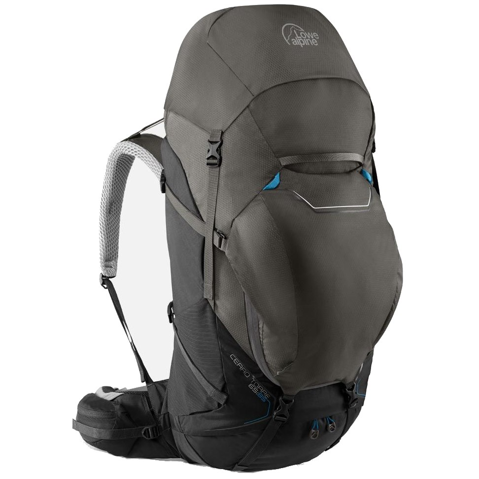 Lowe Alpine Cerro Torre 65:85 Regular Backpack FBQ-01 - Black/Greyhound