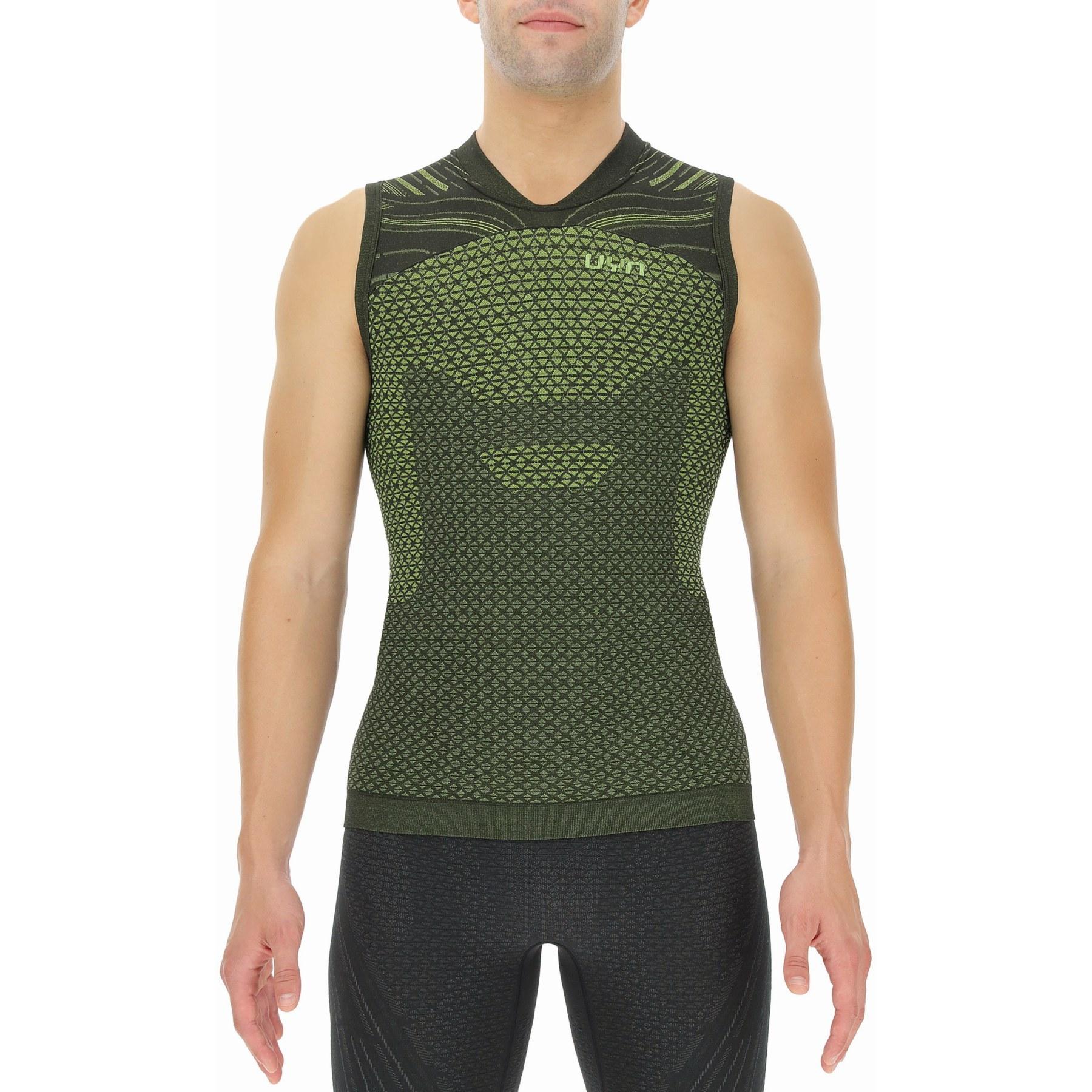 UYN Alpha Coolboost Running Sleeveless Shirt - Ultra Lime/Lizard