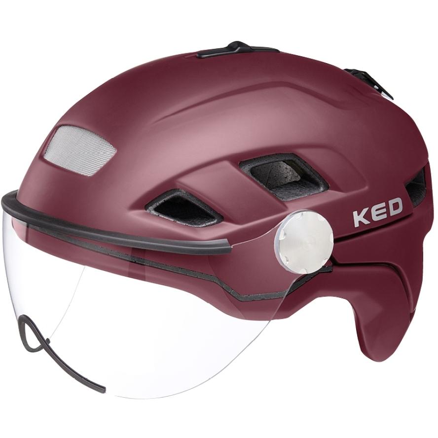 KED B-Vis X-Lite Helm - dark merlot matt