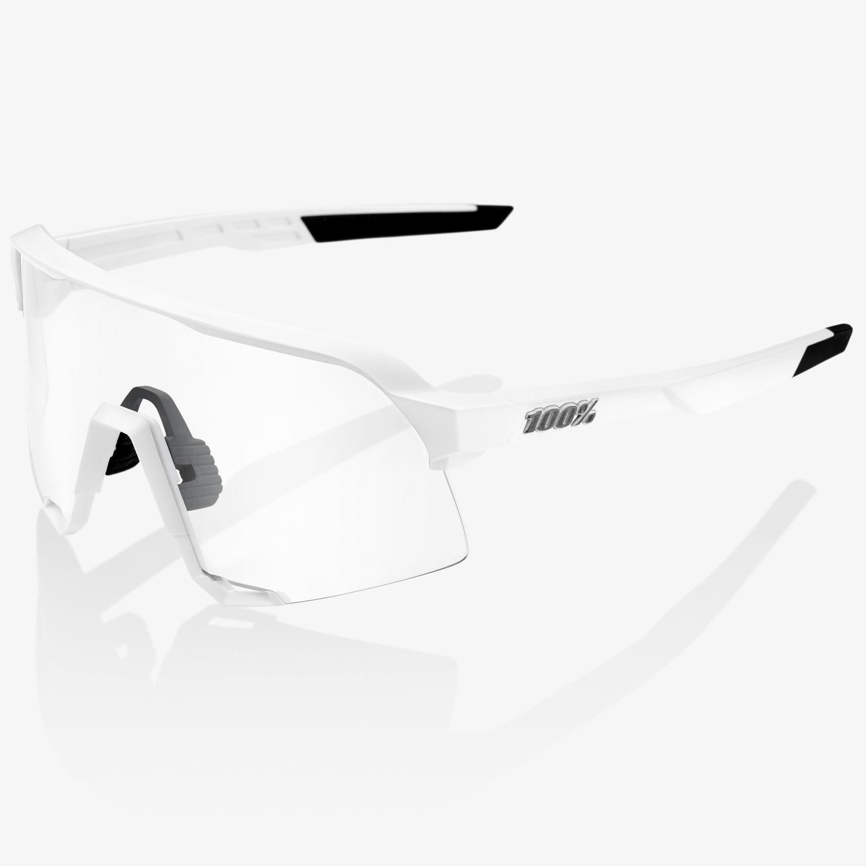 Imagen de 100% S3 HiPER Mirror Glasses - Matte White/Silver + Clear