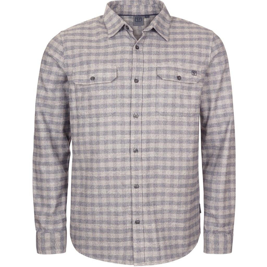 Elkline woodfellows Longsleeve Shirt - grey-darkblue