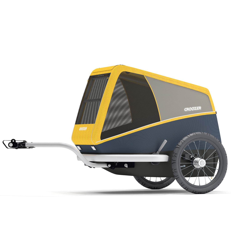 Foto de Croozer Dog Peppa - Remolque de bicicletas para perros - Pineapple yellow