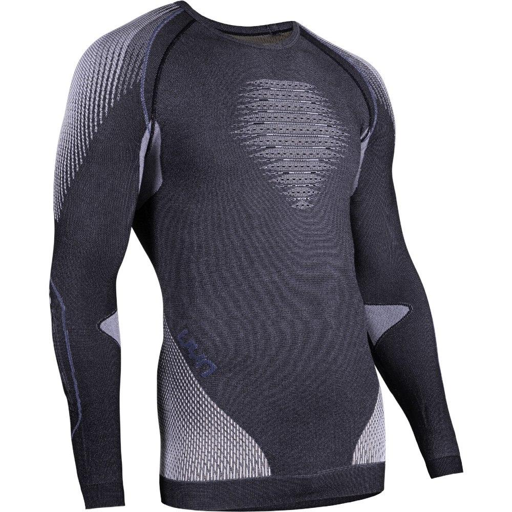 UYN Evolutyon Underwear Melange Langarmshirt - Anthracite Melange/Nude/Avio