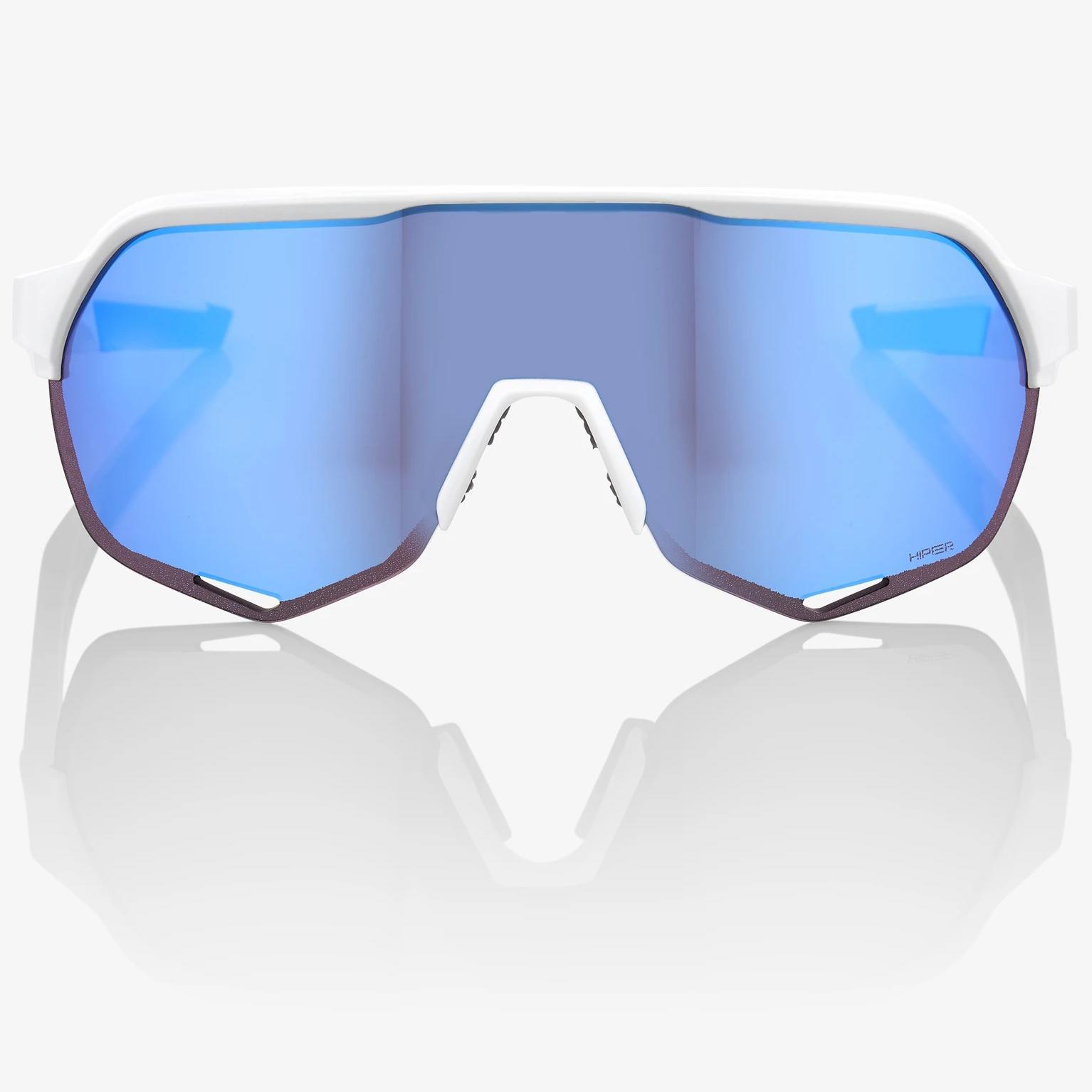 Imagen de 100% S2 HiPER Mirror Gafas - Matte White/Blue Mutlilayer + Clear