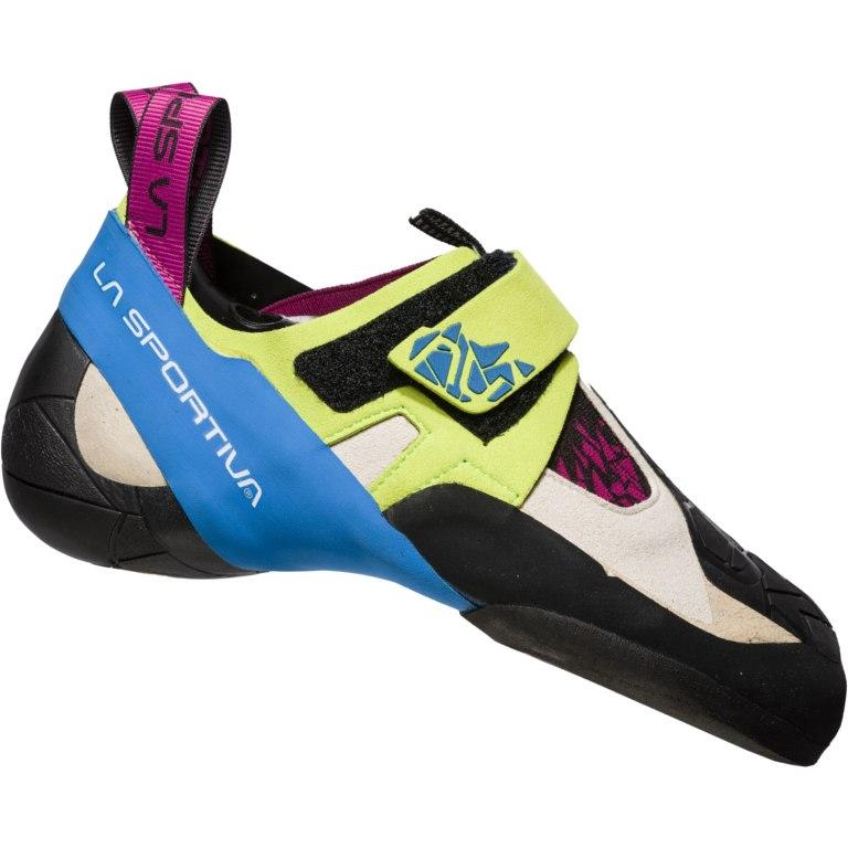 La Sportiva Skwama Climbing Shoes Women - Apple Green/Cobalt Blue