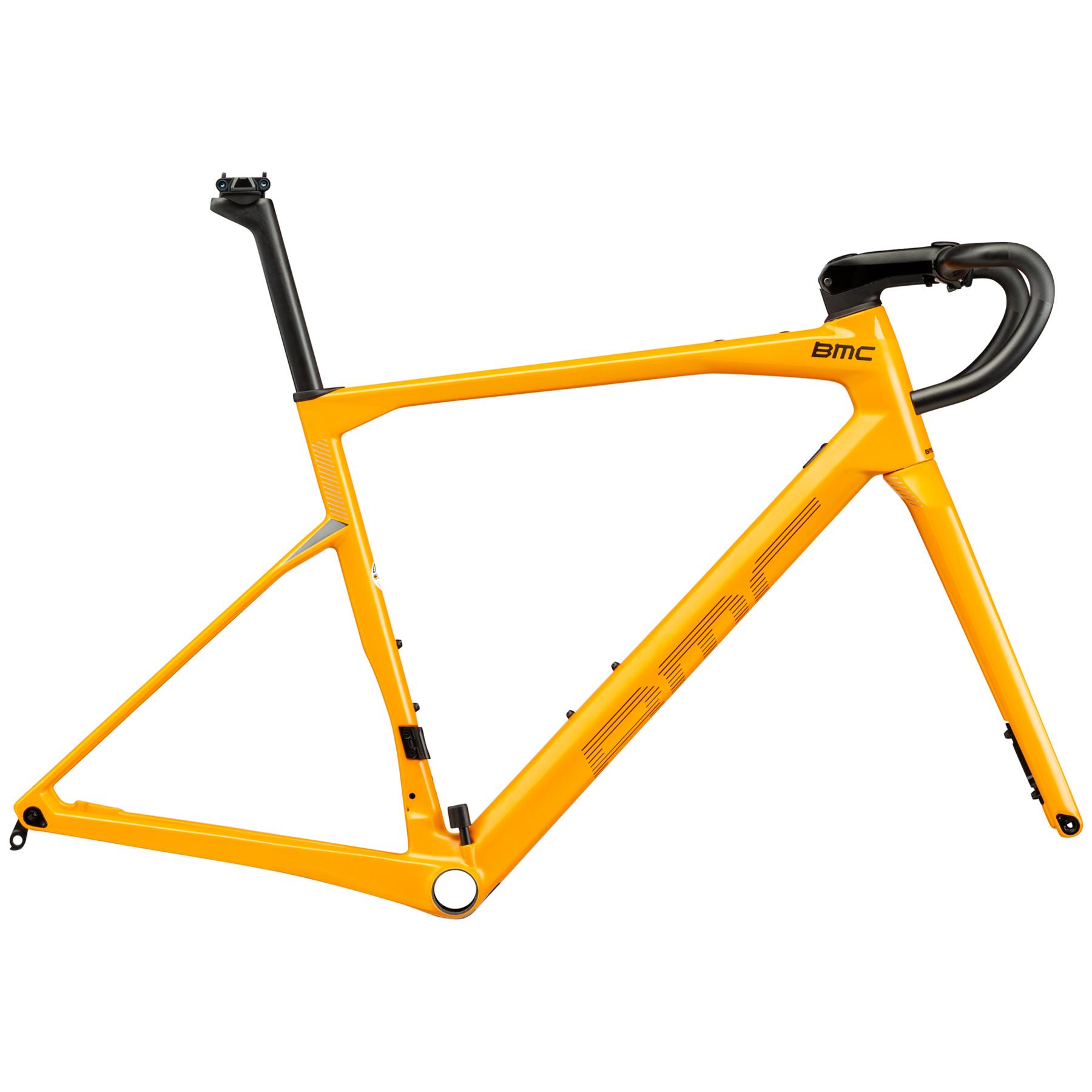 Image of BMC ROADMACHINE 01 MODULE - Carbon Frame Set - 2021 - canary yellow & white