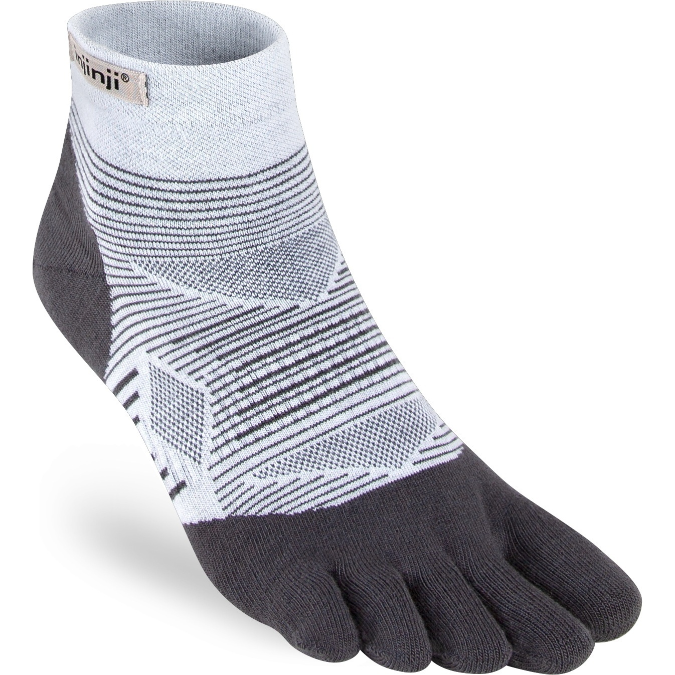 Produktbild von Injinji Run Lightweight Mini-Crew Socken 261130 - grau