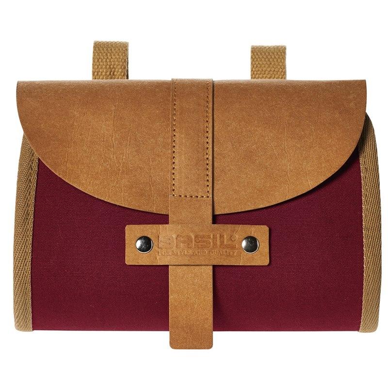 Basil Portland Saddle Bag - dark red