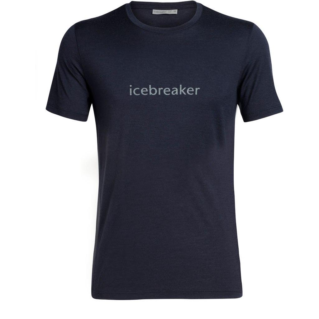 Icebreaker Tech Lite Crewe Icebreaker Wordmark T-Shirt - Midnight Navy