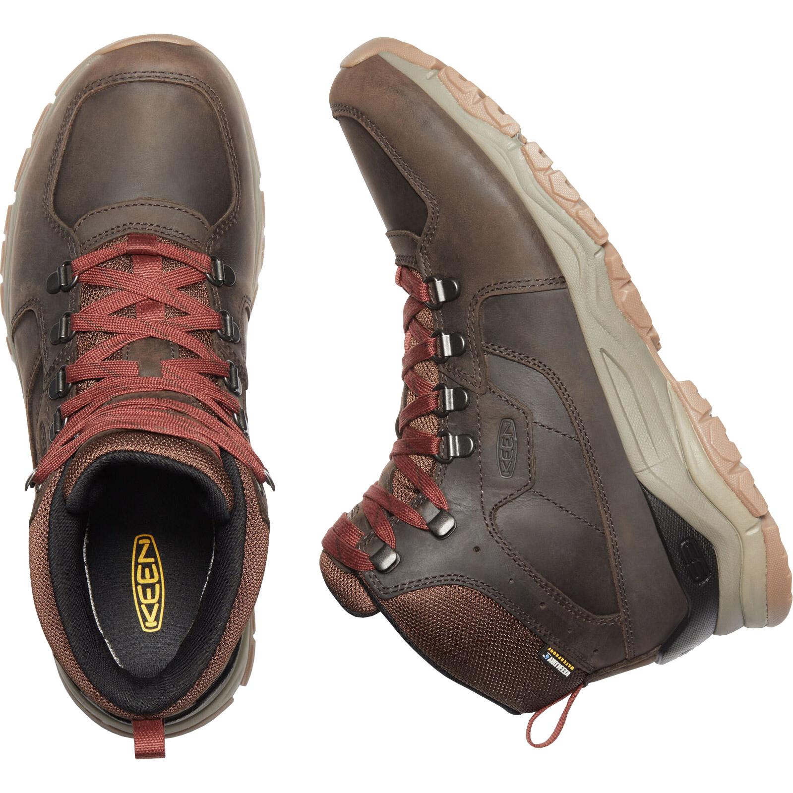 Bild von KEEN Innate Leather Mid Waterproof Herren-Wanderstiefel - Chestnut / Fired Brick