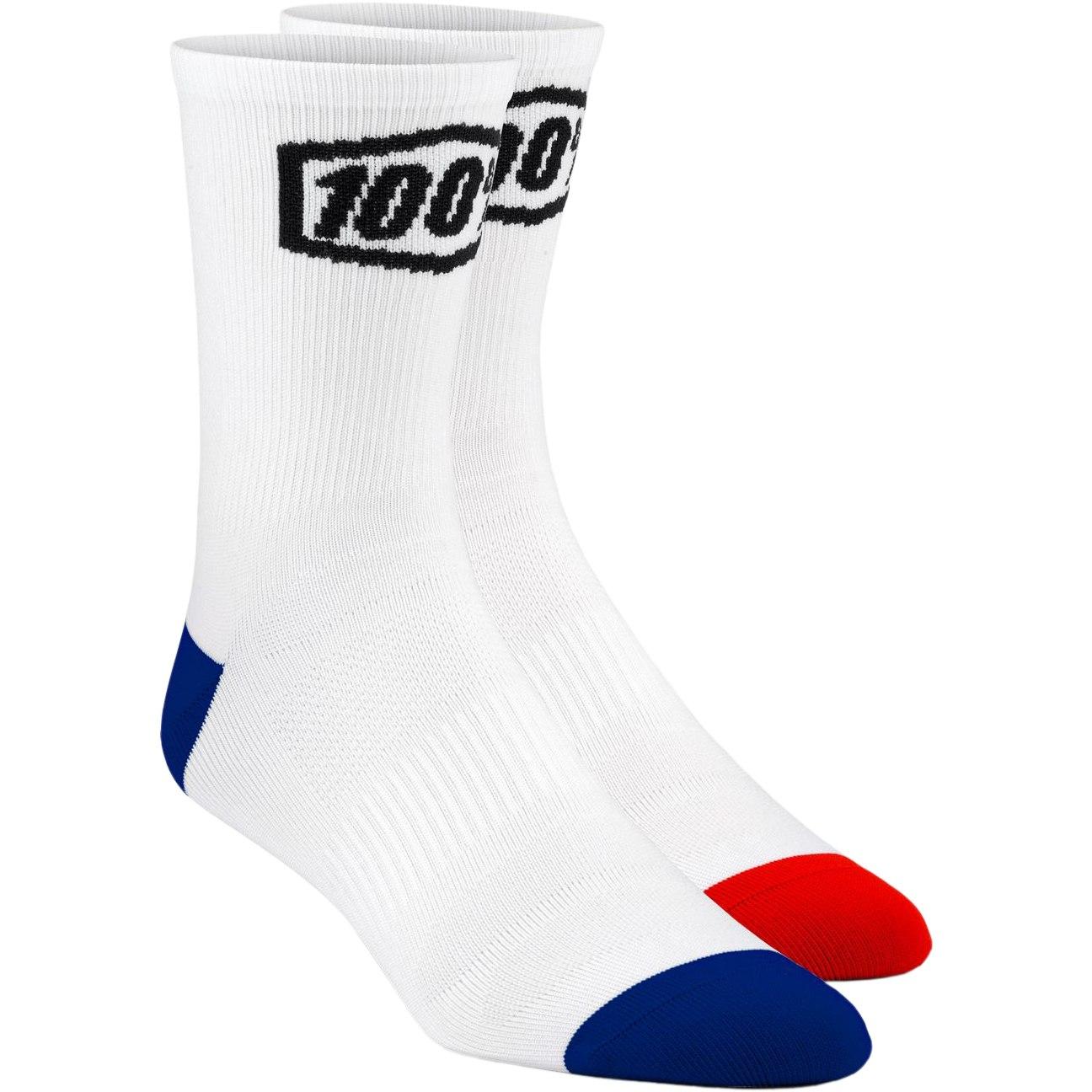100% Terrain Socks - White