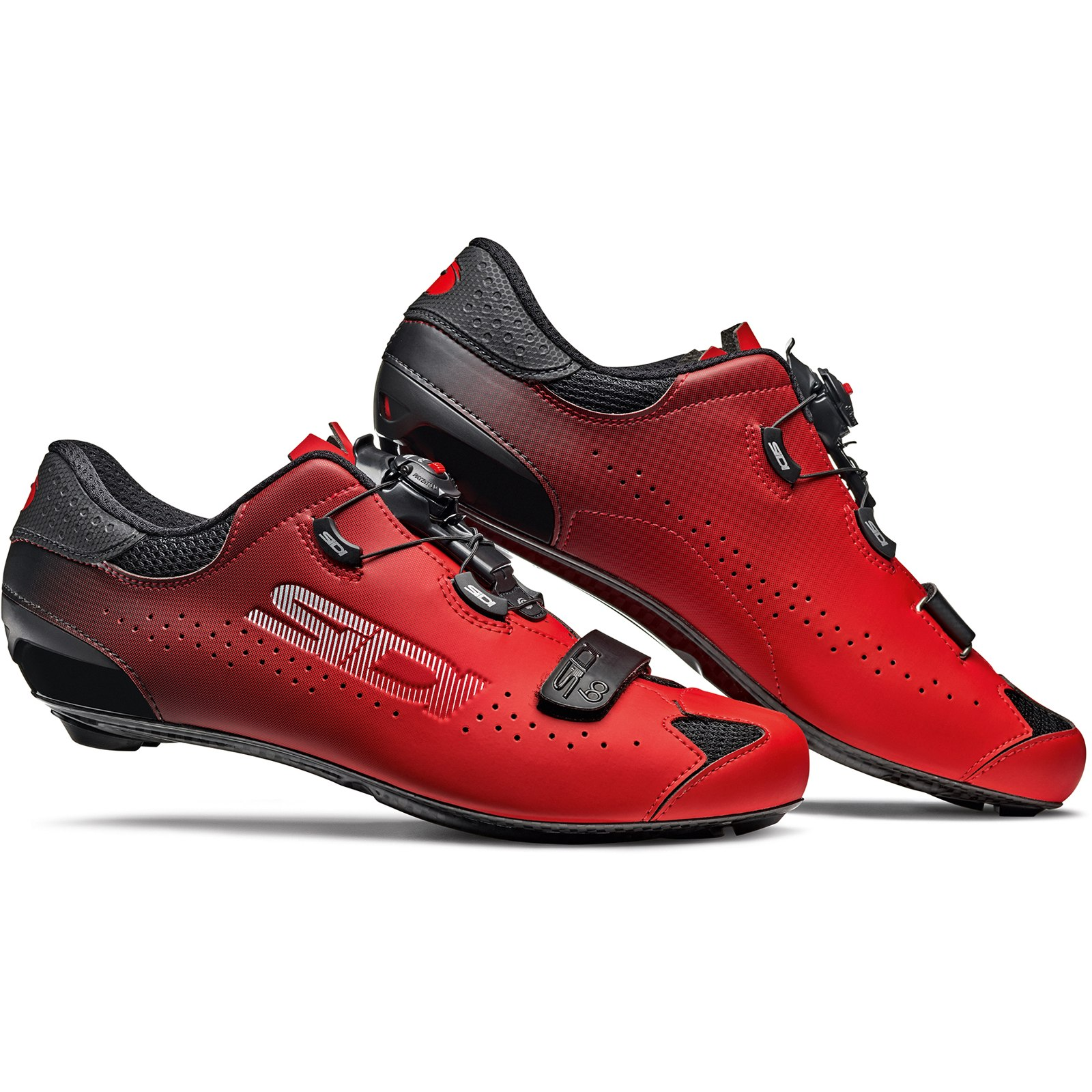 Sidi Sixty - Zapatillas ciclismo carretera - negro/rojo