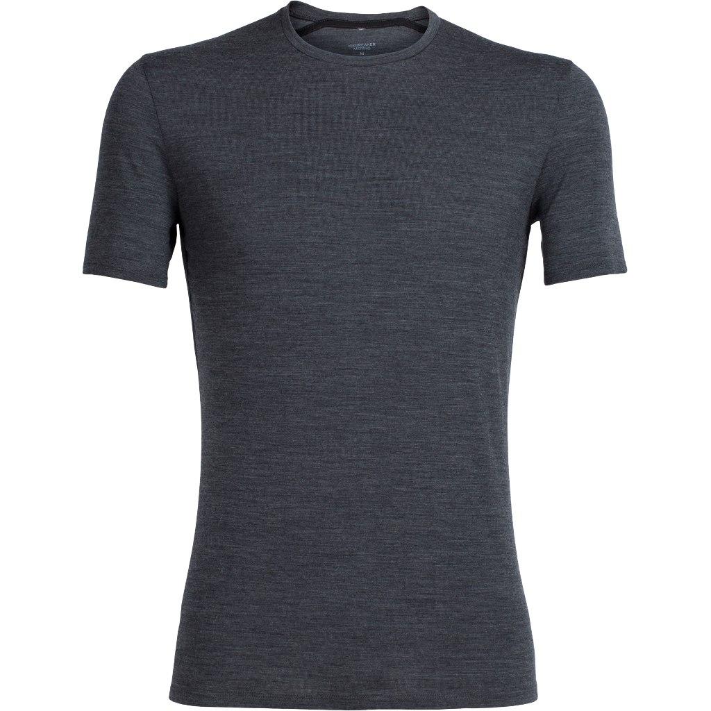 Produktbild von Icebreaker Anatomica Crewe Herren T-Shirt - Jet Heather/Black