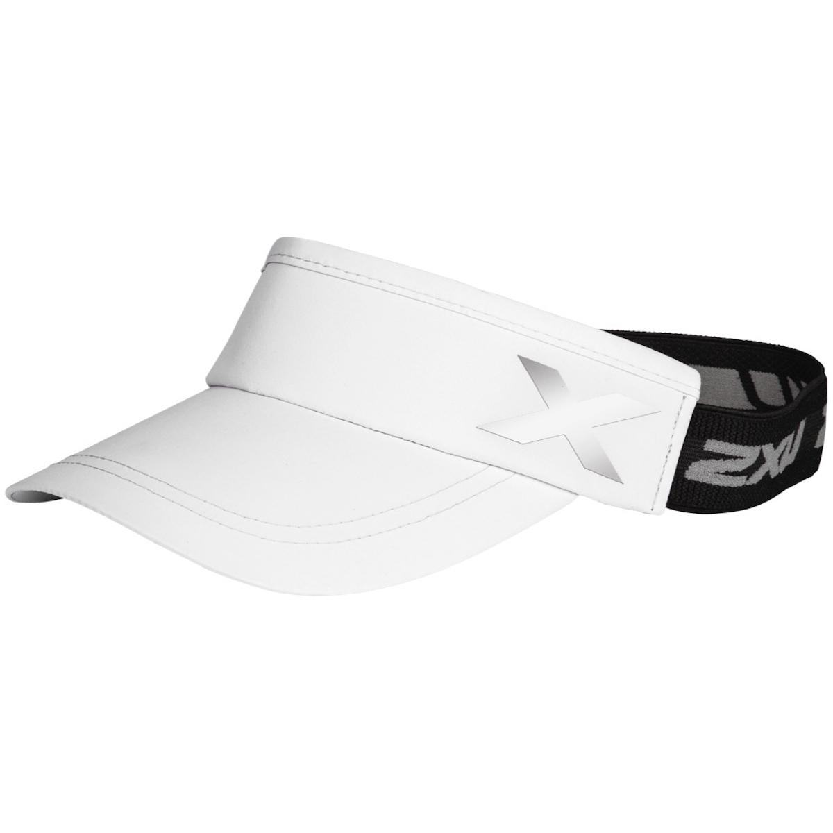 2XU Unisex Performance Visor - white/white