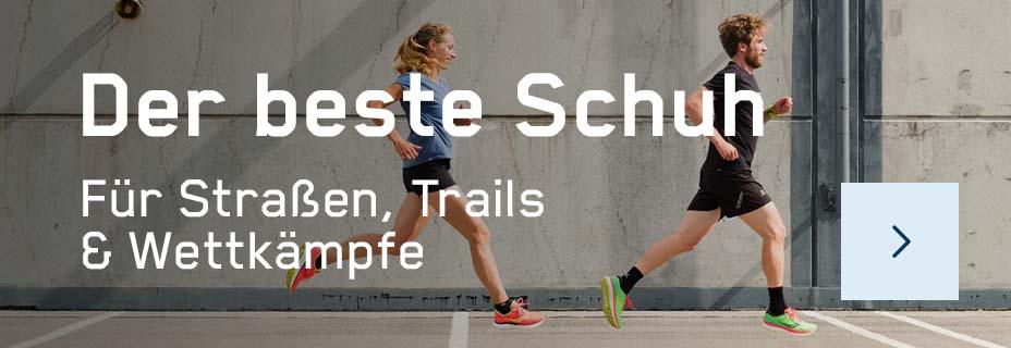 Laufschuhe für Straßen, Trails und Wettkämpfe