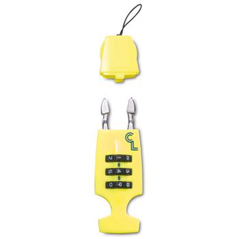 Image of Lazer Cappuccino Lock Combination Lock for Helmets - Flash Yellow