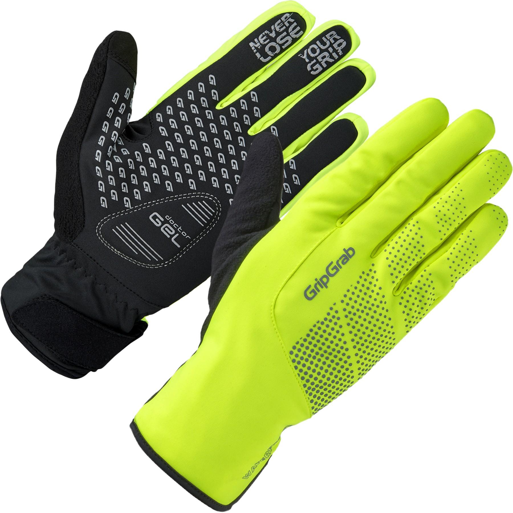 GripGrab Ride Hi-Vis Wasserdichter Winter Handschuh - Yellow Hi-Vis
